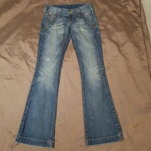 True Religion Sammy Flare Distressed Jeans 26